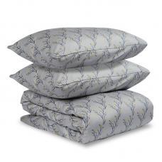 """Комплект постельного белья сатин Tkano Essential 1.5-спальный """"Соцветие"""" горчичный"""