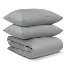 Комплект постельного белья сатин Tkano Essential 1.5-спальный светло-серый