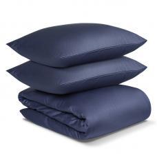Комплект постельного белья сатин Tkano Essential 2-спальный сатин темно-синего