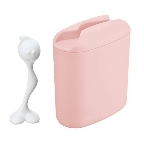 Контейнер для хранения продуктов с ложкой Koziol Hot Stuff L розовый