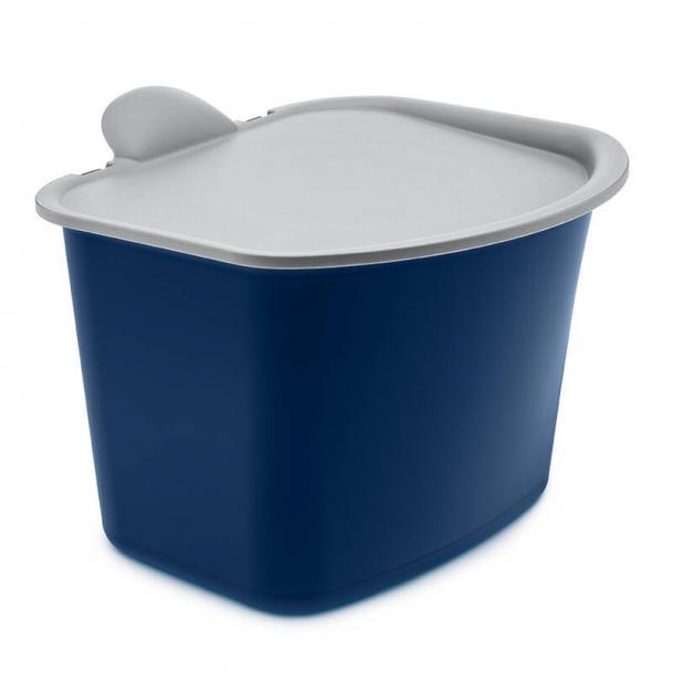 Контейнер для мусора Koziol Bibo сине-серое