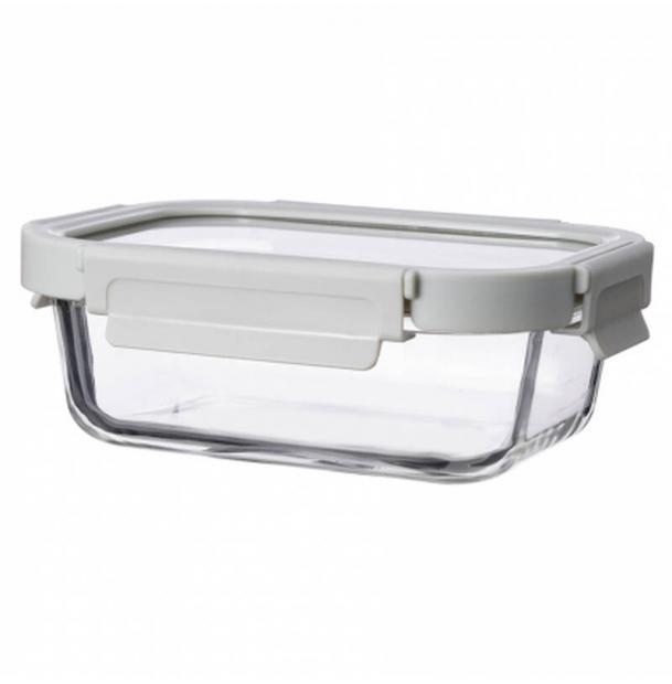 Контейнер для еды стеклянный 1050 мл светло-бежевый ID1050RC_7534C