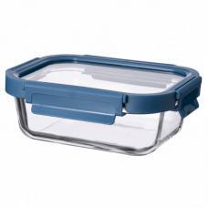 Контейнер для еды стеклянный 1050 мл темно-синий