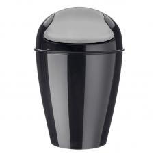 Корзина для мусора с крышкой Koziol Del M 12 л чёрная