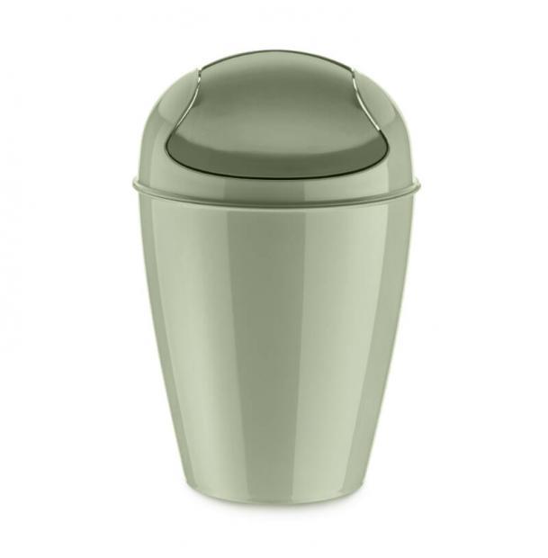 Корзина для мусора с крышкой Koziol Del S 5 л эвкалиптовая
