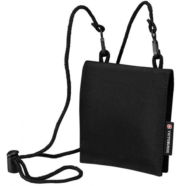 Кошелёк на шею VICTORINOX Convertible Travel Wallet, чёрный, нейлон 800D, 13x1x12 см