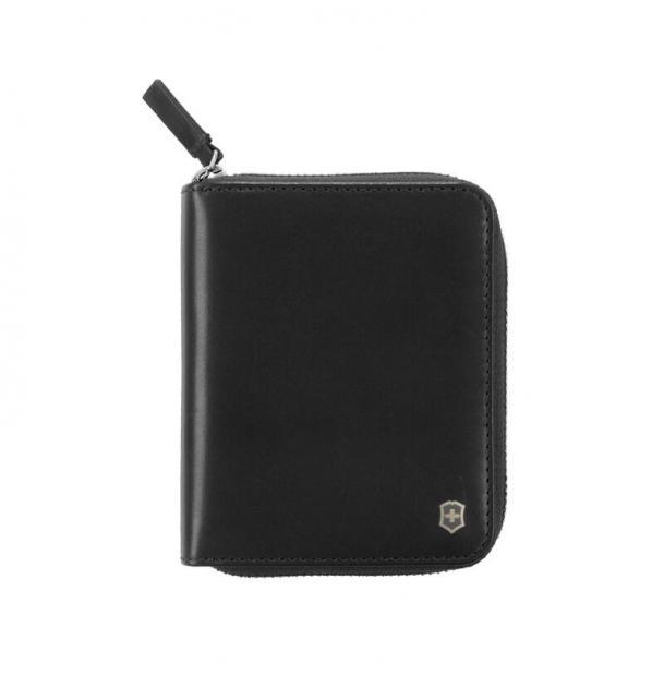 Кошелёк VICTORINOX Weyl с защитой от сканирования RFID, чёрный, натуральная кожа наппа, 10x2,2x12 см