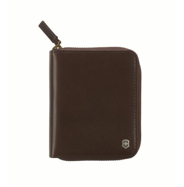 Кошелёк VICTORINOX Weyl с защитой от сканирования RFID, коричневый, кожа наппа, 10x2,2x12 см