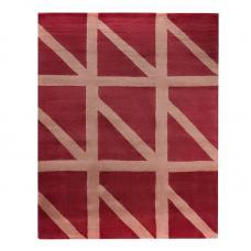 Ковер шерстяной ручной работы Tkano Geometric Dance бордовый