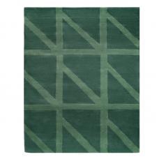 Ковер шерстяной ручной работы Tkano Geometric Dance зеленый