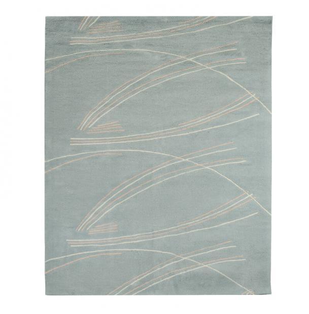 Ковер Tkano ручной работы из хлопка светло-серый