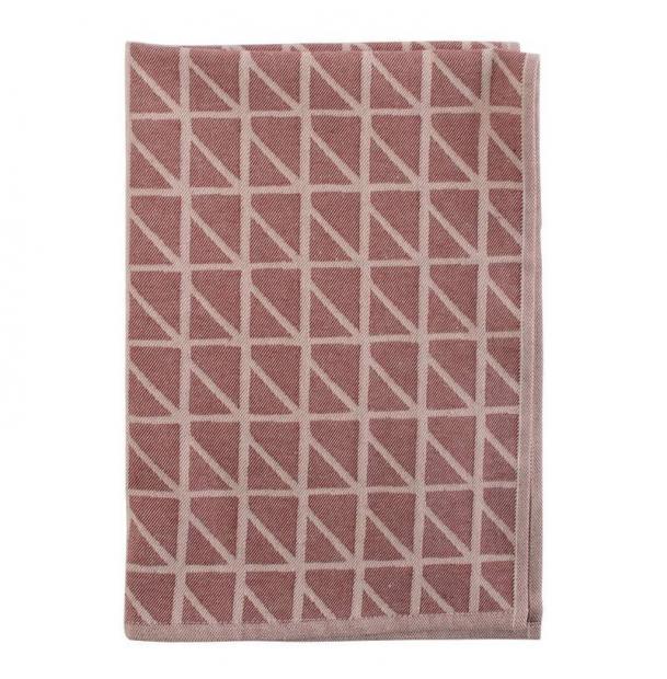 Кухонное полотенце Tkano с принтом Twist бордовое Cuts&Pieces 45х70