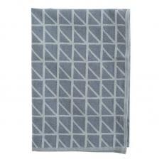 Кухонное полотенце Tkano с принтом Twist темно-синее Cuts&Pieces 45х70