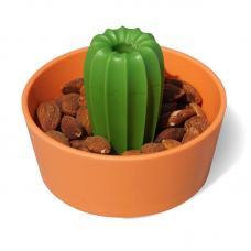 Миска для снеков Qualy Cacnuts, оранжевая с зеленым