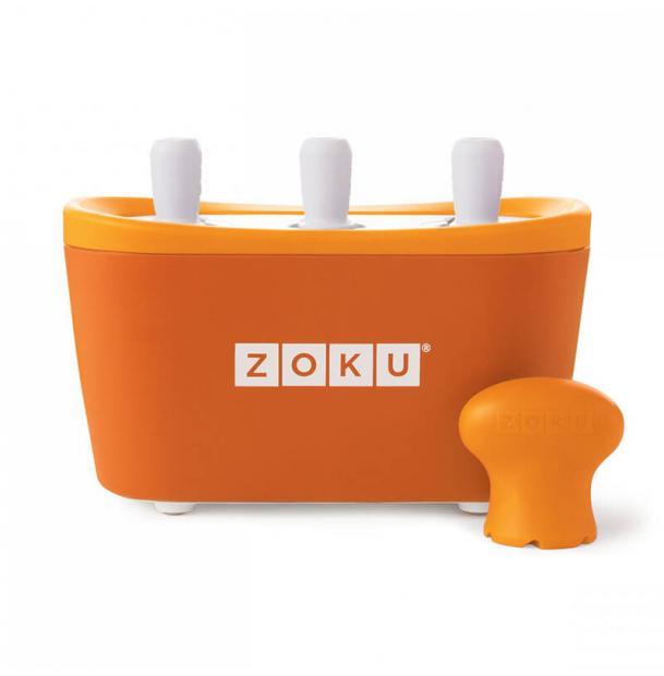 Набор для приготовления мороженого Zoku Triple Quick Pop Maker оранжевый