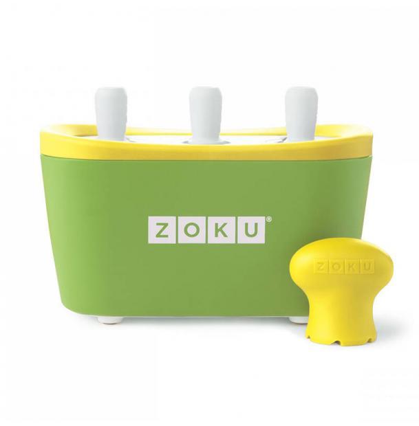 Набор для приготовления мороженого Zoku Triple Quick Pop Maker зеленый