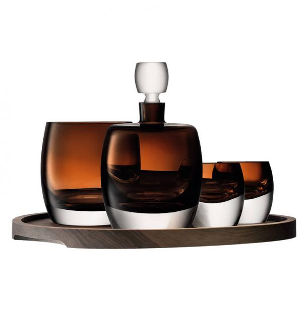 Набор для ценителей виски с деревянным подносом LSA International Whisky Club