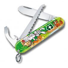 """Набор для детей Victorinox """"Кролик"""": перочинный нож 84 мм, шнурок на шею, книга-раскраска"""