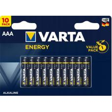 Набор из 10 батарей Varta Energy AAA