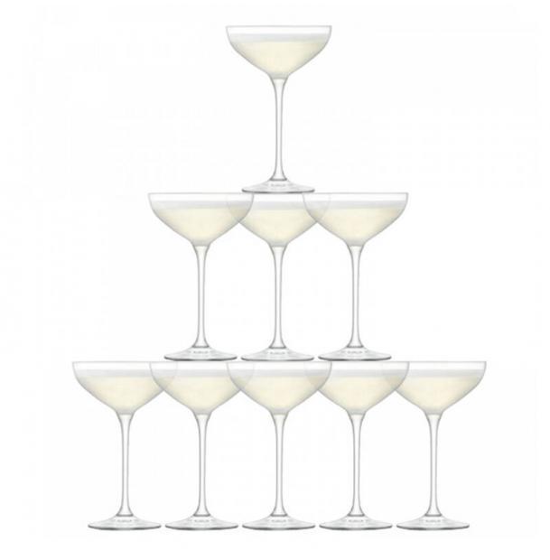 Набор из 10 бокалов-креманок для шампанского LSA International Tower