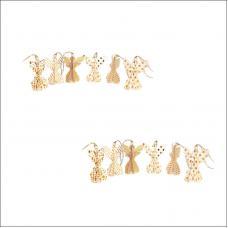 Набор из 12-ти украшений для интерьера EnjoyMe Angels en_ny0067 разноцветные