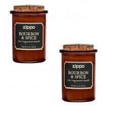 Набор из 2 ароматизированных свеч Zippo Bourbon & Spice 70017-2