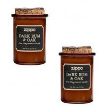 Набор из 2 ароматизированных свеч Zippo Dark Rum & Oak 70016-2