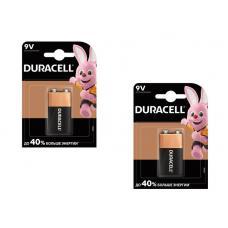 Набор из 2 батареек Duracell Basic Крона 6LR61 BL1 Alkaline 9V CN