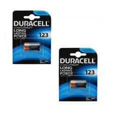 Набор из 2 батареек Duracell ULTRA CR123A BL1 Lithium 3V US 123106-2