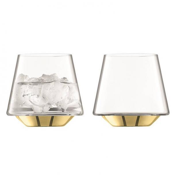 Набор из 2 бокалов для вина и воды LSA International Space 430 мл золото