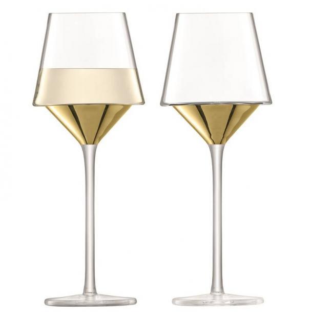 Набор из 2 бокалов для вина LSA International Space 350 мл золото