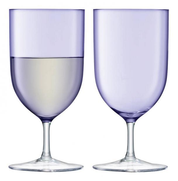 Набор из 2 бокалов для воды и вина LSA International Hint 400 мл фиолетовый