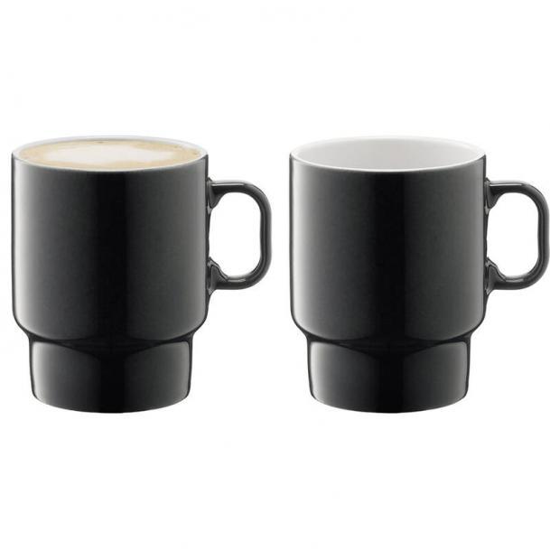 Набор из 2 чашек для капучино LSA International Utility 380 мл серый