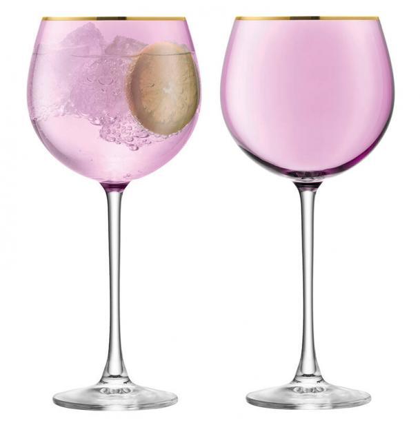 Набор из 2 круглых бокалов LSA International Sorbet 525 мл розовый