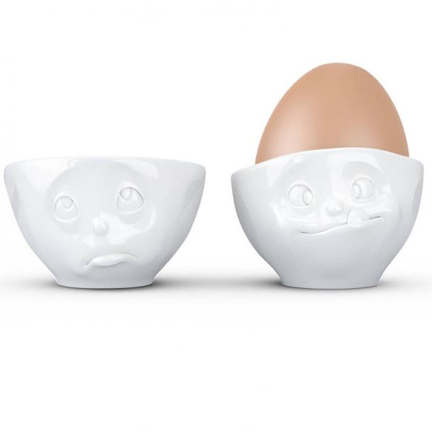 Набор из 2 подставок для яиц Tassen Oh please & Tasty белый T01.52.01