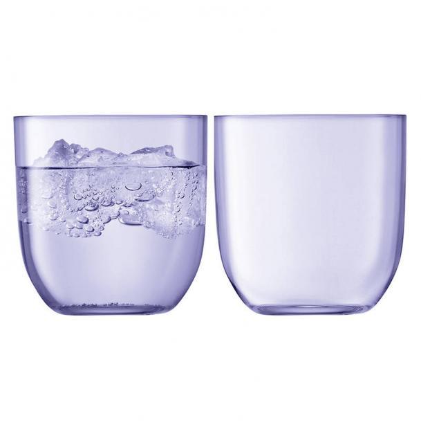 Набор из 2 стаканов LSA International Hint 400 мл фиолетовый