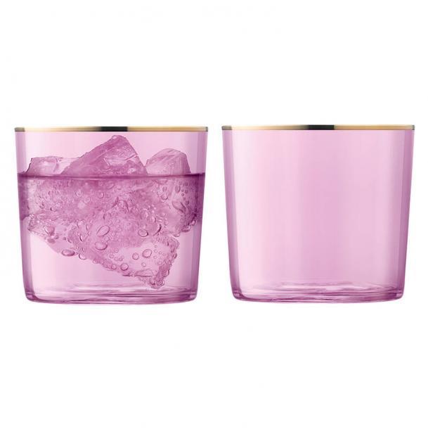 Набор из 2 стаканов LSA International Sorbet 310 мл розовый