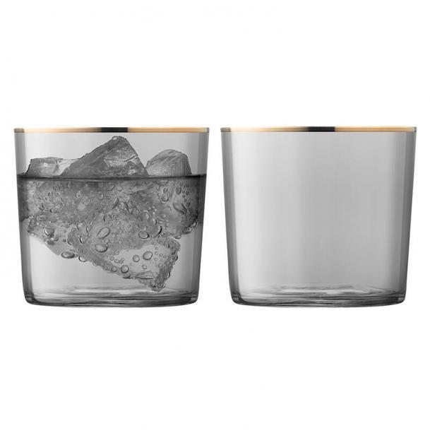 Набор из 2 стаканов LSA International Sorbet 310 мл серый