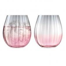 Набор из 2 тумблеров LSA International Dusk 425 мл розовый-серый