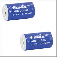 Набор из 2-ух аккумуляторов Fenix ARB-L10-80 Rechargeable Li-ion Battery