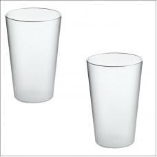 Набор из 2-ух стаканов для зубных щеток Koziol RIO прозрачные