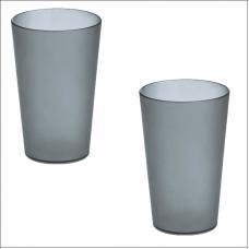 Набор из 2-ух стаканов для зубных щеток Koziol RIO серые