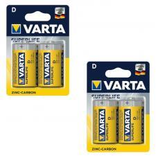 Набор из 4 батарей Varta Superlife D