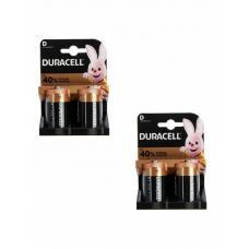 Набор из 4 батареек Duracell Basic LR20 D BL2 Alkaline 1.5V US