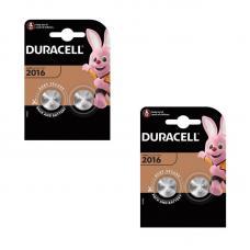Набор из 4 батареек Duracell CR2016 BL2 Lithium 3V CN