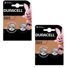 Набор из 4 батареек Duracell CR2025 BL2 Lithium 3V C