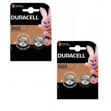 Набор из 4 батареек Duracell CR2032 BL2 Lithium 3V CN 054967-n