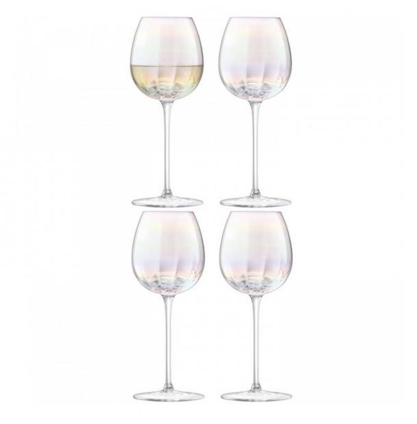 Набор из 4 бокалов для белого вина LSA International Pearl 325 мл