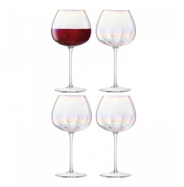 Набор из 4 бокалов для красного вина LSA International Pearl 460 мл