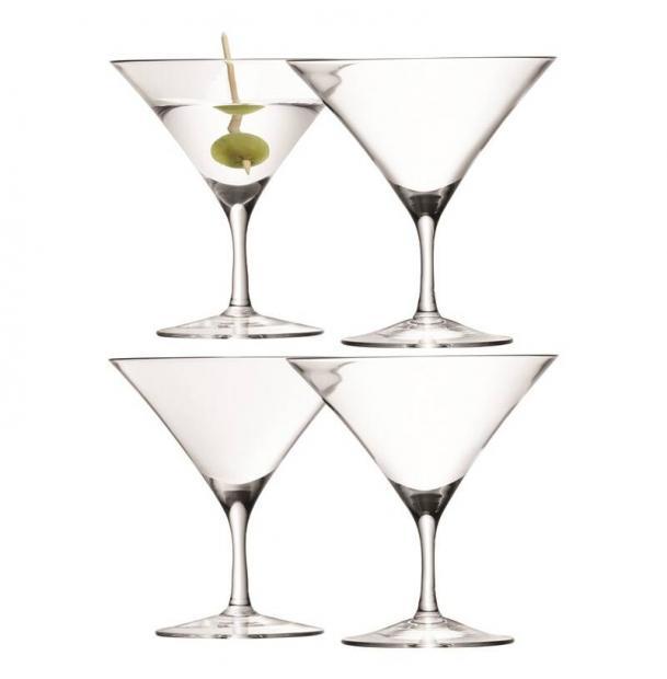 Набор из 4 бокалов для мартини LSA International Bar 180 мл